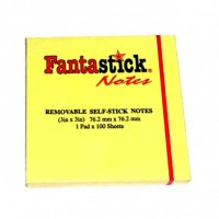 "Fantastick Sticky Notes 3""x3""  Yellow"