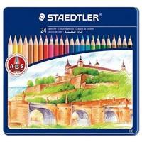 Staedtler Coloured Pencils Set of 24 Color Metal Box