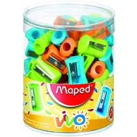 Maped Sharpner 1Hole Vivo Pack of 75 Pcs
