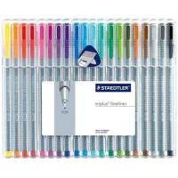 Staedtler 334 Triplus fineline Pack of 20 Colors