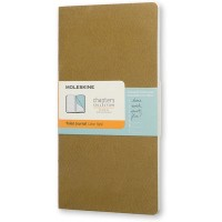 Moleskine Chapters Slim Large, Ruled, Tawny Olive, Soft Cover Journal