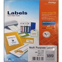Formtec Label1800/25x10mm #18 Box of 100 Sheets