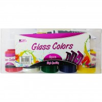 Glass Colour 30ml x 5bottle + 2pc Liner+Brush