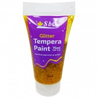 Glitter Tempera Paint 75ml Gold