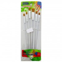 Artist Brush 6pc Flat Brush Set (Transparent)