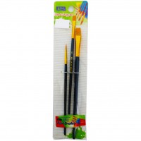 Artist Brush 3pc Assorted Wooden