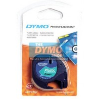 DYMO TP 12MMX4M LT PLASTIC GRN(91204)