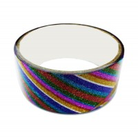 Multicolor Glitter Tape Striped