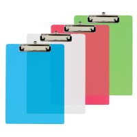 Clip Board A4 Fluorescent Transparent