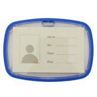 ID Card Holder Blue with Rubber