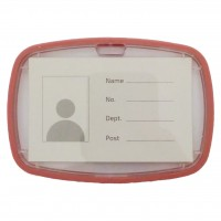 ID Card Holder Light Orange with Rubber