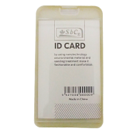 ID Card Holder with Rubber Back White