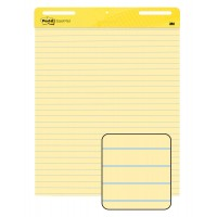 Post-it Super Sticky Easel Pad 561. 25 x 30 in. Yellow Paper with Lines, 30 Sheets/Pad, 2 Pads/Pack