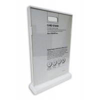 Display Stand T-Shape A4 Size With White Border