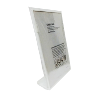 Display Stand L Shape A4 Size White