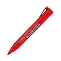 FABER-CASTELL Permanent Marker P50 Red Chisel Tip (10pc Box)-254221