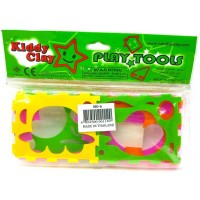 Kiddy Clay Animal Racing Clay 6 Colors 340gm Set
