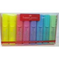 FABER-CASTELL Highlighter TL 1546 Wallet of 8 Past. Neo