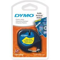 DYMO TP 12MMX4M LT PLAST YELLO(91202)
