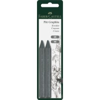 FABER-CASTELL Graphite Crayons PITT 6B/9B 2 in BC