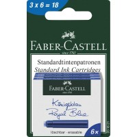 FABER-CASTELL Blistercard 3 Packs Ink Cartridge Royal Blue