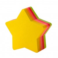 Sticky Note Pad Asstd. Colour - Star