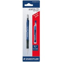 Staedtler 779 Graphite 0.7 Mech.pencil 1pc+lead FREE Blister Pack