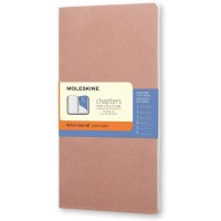 Moleskine Chapters Slim Medium, Ruled, Old Rose, Soft Cover Journal