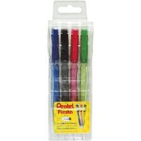 Pentel Mech.Pencil Fiesta 0.5mm Wallet of 4 Pcs Asst Colors