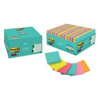 Post-it Super Sticky Notes Miami Collection 654-48SSMIA-CP. 3 x 3 in (76 mm x 76 mm). 70 sheets/pad, 48 pads/Pack
