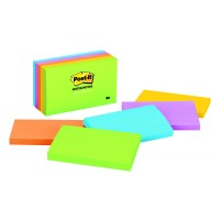 Post-it Notes Ultra Colors 655-5UC. 3 x 5 in (76 mm x 127 mm), 100 sheets/pad, 5 pads/pack