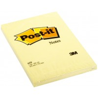 Post-it Notes Canary Yellow 659. 4 x 6 in (101 mm x 152 mm), 100 sheets/pad, 6 pads/Pack