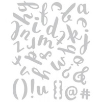 Thinlits Die Set 38PK Brush Lowercase Alpha by Debi Potter