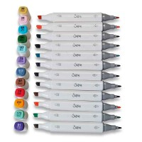 Accessory Permanent Pens 12PK (Assorted Colours)