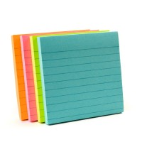 Post-it Super Sticky Notes Miami Collection 675-4SSMIA. 4 x 4 in (101 mm x 101 mm), 90 sheets/pad, 4 pads/Pack. Lined