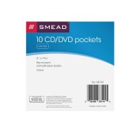 SMEAD SELF-ADHESIVE POLY CD/DVD POCKET CLEAR
