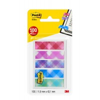 "Post-it Flags ""Printed"" 684-PLD5-EU in OTG dispenser. 1/2 x 1.7 in (11.9 mm x 43.2 mm), 20 flags/color, 5 colors/pack"