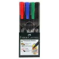 FABER-CASTELL Marker S Permanent Creative PET Box of 4 assorted