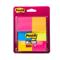 Post-it Super Sticky Notes Assorted Colors 6916S-YPOB. 2in x 2in (47.6 mm x 47.6 mm). 90 sheets/pad, 6 pads/pack