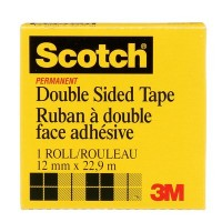 Scotch Double Side Tape in Box 665-1225. 1/2 x 25 yd (12mm x 23m). 1 roll/box