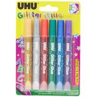 UHU GLITTER GLUE ORIGINAL AN.39040, 10ML BLISTER