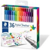 Staedtler 334 Triplus Superfine liner Point Pens, 0.3 Mm Pack of 36 Colors