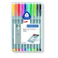 Staedtler 334 Triplus fineline Pack of 10 Colors