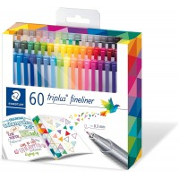 Staedtler 334 Triplus Superfine liner Point Pens, 0.3 Mm Pack of 60 Colors