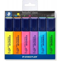 Staedtler 364 Textsurfer Highlter Wallet of 6 Color