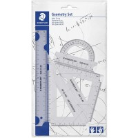 Staedtler 569-PB4 Geometry set 4 pc transparent