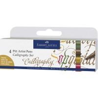 FABER-CASTELL India Ink Pitt Artist Pen Calligraphy 6x