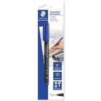 Staedtler 318-3BKDA Lumocolor Permanent Marker Blue Blister of 1pc
