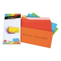 Elco Color C5/6 Envelope assorted without window, adhesive closure