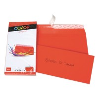 Elco Color C5/6 Envelope intense red without window, adhesive closure